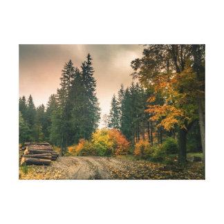 Impressão Em Tela Outono