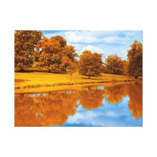 Impressão Em Tela Outono pelo lago