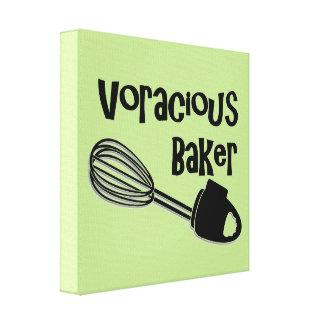 Impressão Em Tela Padeiro voraz - sinais engraçados da cozinha