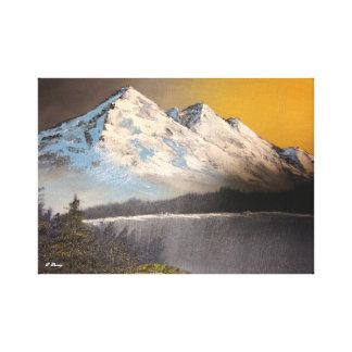 Impressão Em Tela Paisagem nevado da montanha