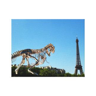 Impressão Em Tela Paris Dino