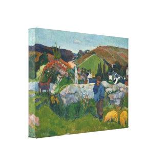 Impressão Em Tela Paul Gauguin o Swineherd
