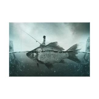 Impressão Em Tela Peixe Gigante