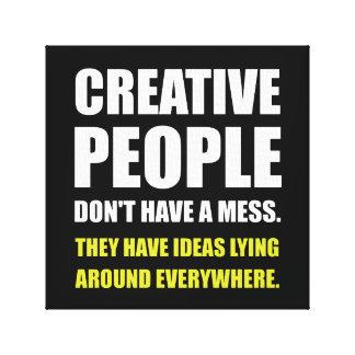 Impressão Em Tela Pessoas criativas das ideias da confusão