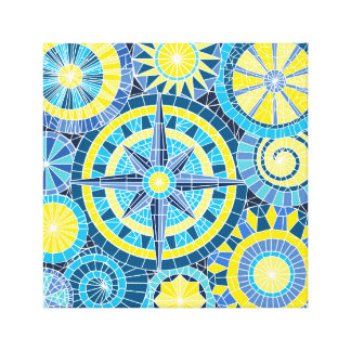 Impressão Em Tela Pinwheel do mosaico