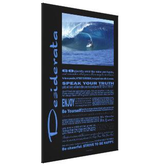 Impressão Em Tela Poema dos Desiderata que surfa em Havaí