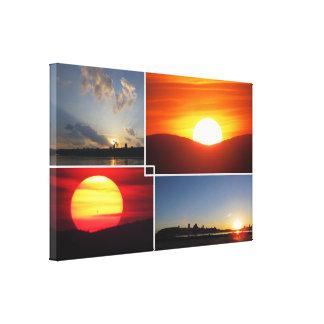 Impressão Em Tela Pôr do sol 4-Photo feito sob encomenda