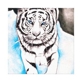 Impressão Em Tela Porca branca do tigre Siberian