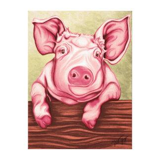 Impressão Em Tela Porco
