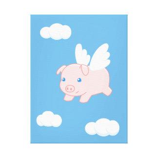 Impressão Em Tela Porco do vôo - leitão bonito com asas