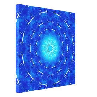 Impressão Em Tela Portal azul da energia