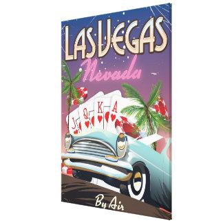 Impressão Em Tela Poster das férias do estilo do vintage de Las