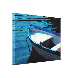 Impressão Em Tela Pouco barco branco