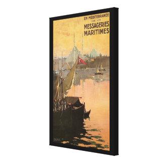 Impressão Em Tela Propaganda do viagem de Constantinople do vintage