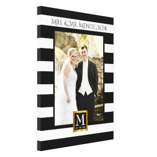 Impressão Em Tela Quadro moderno personalizado da foto do casamento