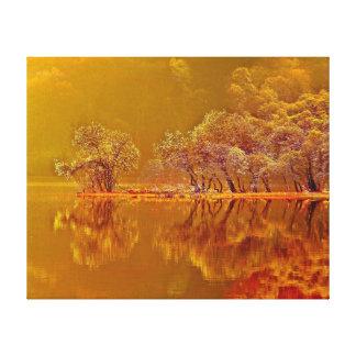 Impressão Em Tela Reflexões da manhã do outono