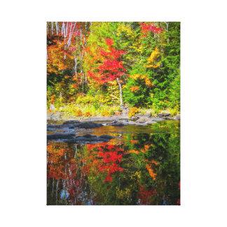Impressão Em Tela Reflexões do outono