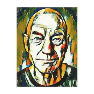 Impressão Em Tela Retrato do óleo de Patrick Stewart