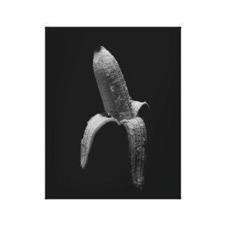 Impressão Em Tela Retrato preto e branco da banana