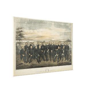 Impressão Em Tela Robert E. Lee & seus generais do confederado da
