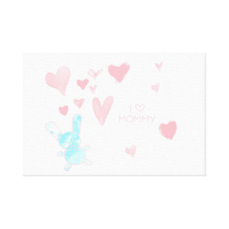 """Impressão Em Tela Sala do bebê eu amo o azul cor-de-rosa 12"""" das"""