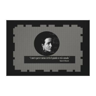 Impressão Em Tela Simone de Beauvoir - frases