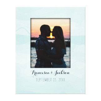 Impressão Em Tela Sinal alternativo da foto do casamento do livro de