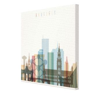 Impressão Em Tela Skyline da cidade de Bruxelas, Bélgica |