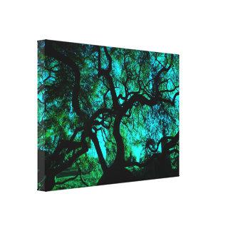 Impressão Em Tela Sob a árvore na turquesa II