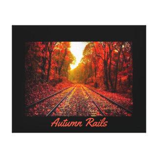 Impressão Em Tela Trilhos do outono