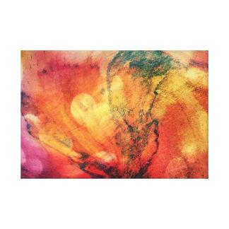 Impressão Em Tela Uma folha no abstrato de madeira da arte do outono