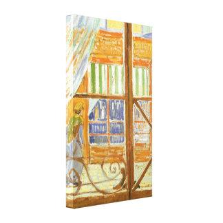 Impressão Em Tela Uma janela da loja de carniceiro da carne de porco