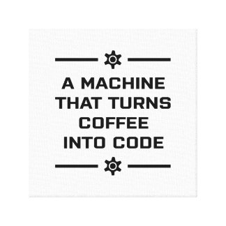 Impressão Em Tela Uma máquina que transforme o café no código