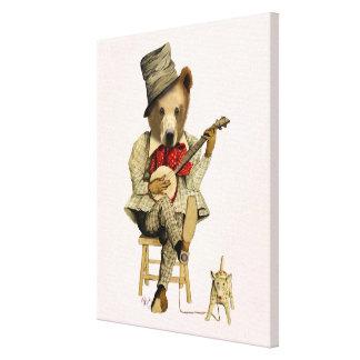 Impressão Em Tela Urso do banjo