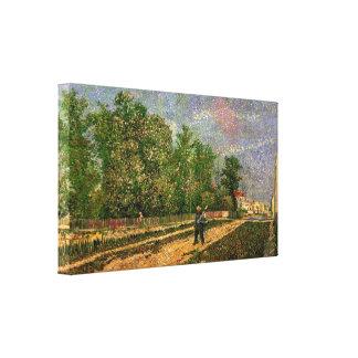 Impressão Em Tela Van Gogh, Paris: Estrada com camponês, arte do
