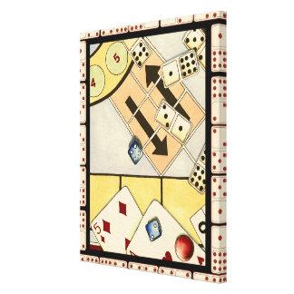 Impressão Em Tela Variedade misturada dos jogos de azar