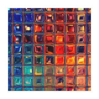 Impressão Em Tela Vermelho brilhante corajoso da cor preliminar de