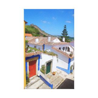 Impressão Em Tela Vila da aguarela