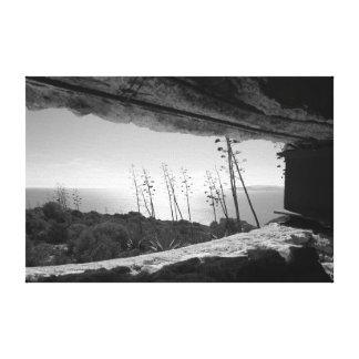 Impressão Em Tela Vista panorâmica em preto & no branco