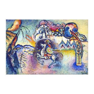 Impressão Em Tela Wassily Kandinsky - St George & os cavaleiro