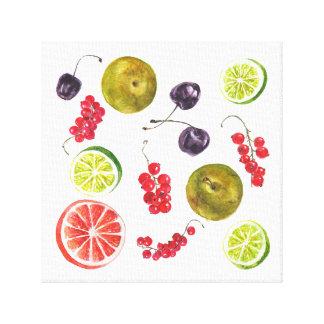 Impressão Em Tela Watercolor. da fruta do verão