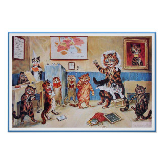 Impressão engraçado do poster dos gatos:  O Puss i