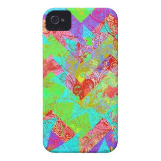 Impressão feminino da colagem do abstrato vibrante capa de iPhone 4 Case-Mate