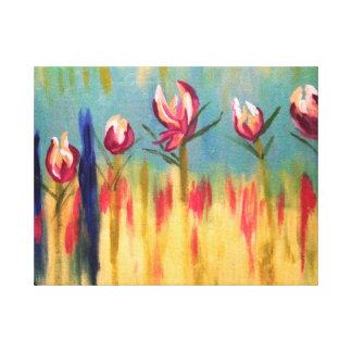 Impressão floral abstrato impressão em tela