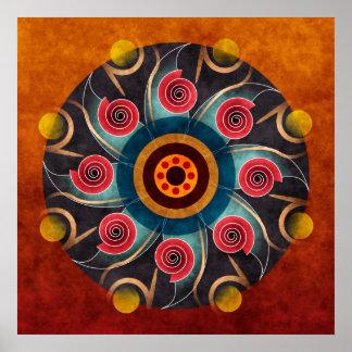 Impressão floral da arte do vetor do abstrato da c