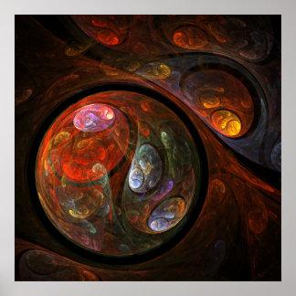 Impressão fluido da arte abstracta da conexão