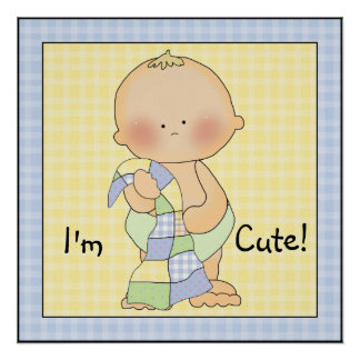 Impressão geral da arte do poster do bebé