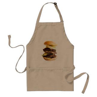 Impressão grande do hamburguer no avental