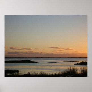 Impressão Hebridean da foto do por do sol