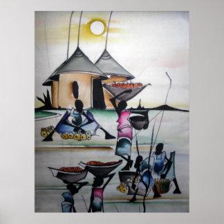 Impressão home africano 3 da decoração
